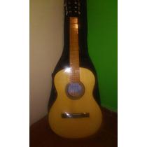 Guitarra Criolla + Funda + Afinador Electrico.