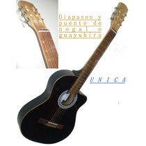 Guitarra Electro Criolla Con Corte Electro Media Caja, Unica