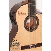 Guitarra De Concierto La Alpujarra M86kec-con Funda Acolchad