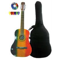 Guitarra Criolla Jamaica Estudio Funda+pua+dvd / Open-toys