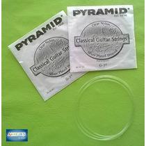 2 Cuerdas Terceras Para Guitarra Criolla Pyramid