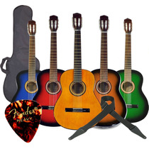 Guitarras Clasica Criolla Funda Correa Gtia Pua De Regalo