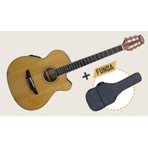 Guitarra Clásica 1/2 Caja Custom Parquer Gccmc100 Eq + Funda