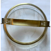 Frutera Canasta Art Nouveau Cristal Tallado Y Metal