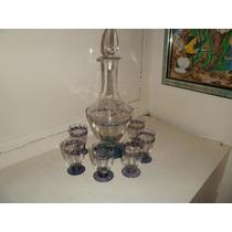 Botellon Y Copas De Cristal