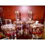 Antiguo Juego De Toillete 4 Piezas Cristal Estilo Art Deco