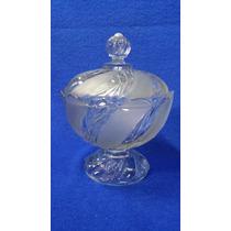 Caramelera Antigua De Cristal Tallada Esfumado