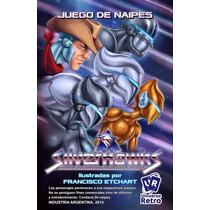 Cartas Naipes Halcones Galacticos Silverhawks Universo Retro