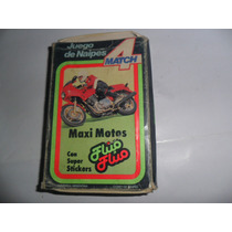 Cromy Juego Naipes Carta Fluo Fluo Maxi Motos Match 4