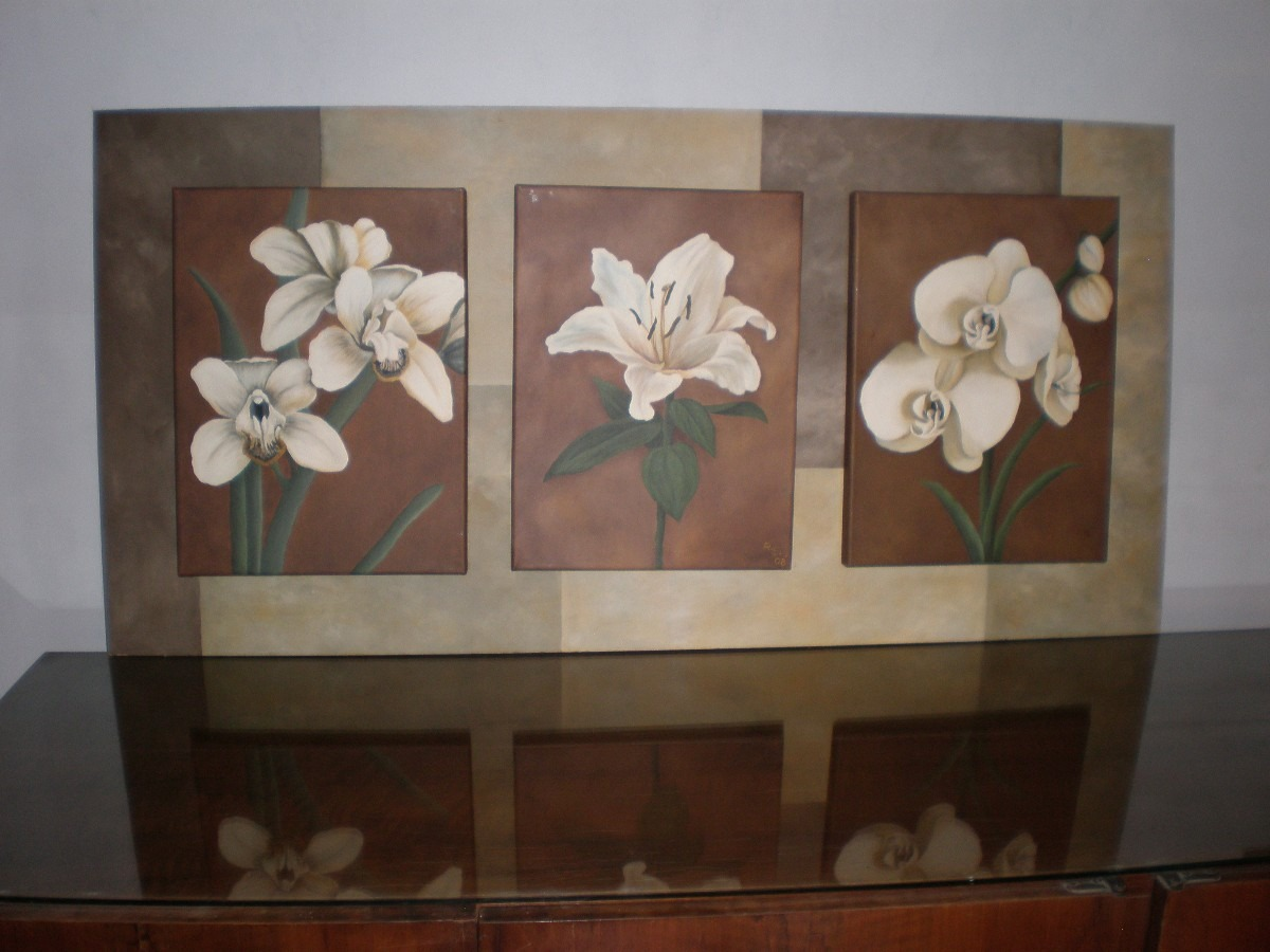 Tripticos de flores al oleo imagui for Cuadros pintados al oleo