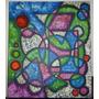 Cuadro Abstracto Pintado A Mano 60 X 70 En Acrílico Arte