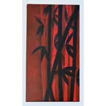 Cuadros Cañas Bambu- Pintura Abstracta - Zen Diseño Unico