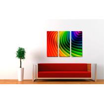 Cuadros Impresos Tripticos, Tela Canvas 60x50cm Abstractos!