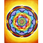 Cuadro Decorativo - Pintado A Mano-diseño Original- Mandala