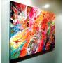 Cuadro Abstracto Moderno De 50x70, En Acrilico Y Barnizado!!