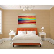 Cuadros Modernos 80x130 Abstractos Tripticos Texturados