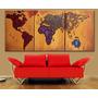 Cuadros Decorativos Oficina Hotel Living Mapa Planisferio