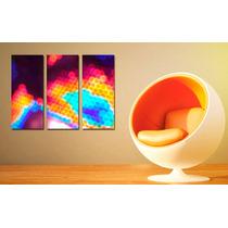 Cuadros Impresos Tripticos Tela Canvas 35x30cm Abstractos!