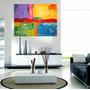 Cuadros Modernos 60x120 Abstractos Tripticos Texturados
