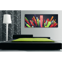 Cuadros Impresos Panoramico, Tela Canvas 25x65cm Abstractos!