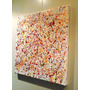 Cuadro Abstracto Moderno En Acrilico, Barnizado De 40x40!!!