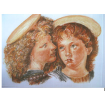 El Angel De Leonardo 40x30cm Pastel A La Tiza Cuadro Pintura