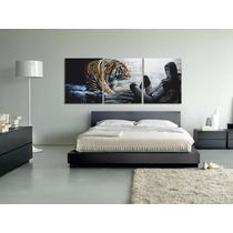 Cuadro Tigre 230x90cm Gigante Para Cabecera De Dormitorio