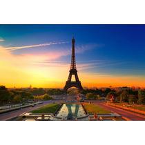 Cuadro De Paris Impreso En Tela Canvas C/ Bastidor 85x56