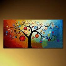 Cuadros Abstractos Arbol De La Vida Etnicos Pinturas Flores