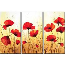 Cuadros Abstractos Tripticos Dipticos Flores Modernas