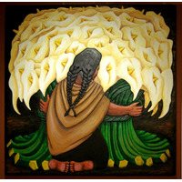Vendedora De Alcatraces - Diego Rivera -110 X 110 Cm