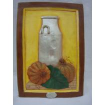 Cuadro En Relieve Yeso Pintado 24.5cm X 35cm (ana.mar)