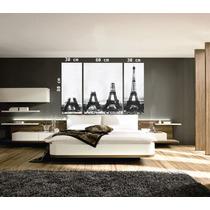 Cuadros Bastidores Tripticos Torre Eiffel 120x80