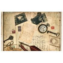 Cuadro Vintage En Tela Canvas Con Bastidor 95x60
