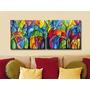Cuadros Modernos Decorativos - Abstractos - Pintados A Mano