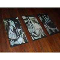 Increible Triptico Guernica Pablo Picasso En Lona Vinilica