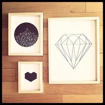 Cuadro Grande Diseño Ilustraciones Geométricas Y Coloridas
