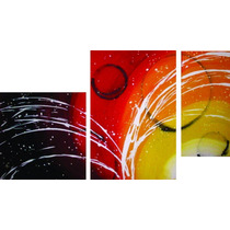 Cuadros Tripticos Modernos - Bastidores De Tela -120 X 60 Cm