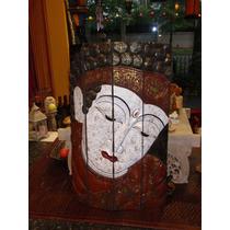 Talla De Madera Cara Buda
