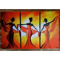 Cuadros Trípticos Étnicos Abstractos Africanas Decorativos