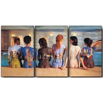 Pink Floyd En Tela Canvas 3 Partes De 60x40 Cm -exelente Cal