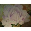 Oleo 45 X 55 Cm. Flor. Rosa Sobre Oro Y Cobre.