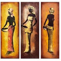 Cuadros Modernos Tripticos Paisajes Africanos Texturados