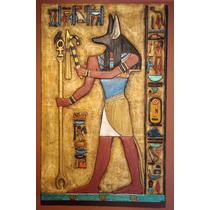 Anubis - Escultura Mural Medidas: 87 X 55 X 5 Cm