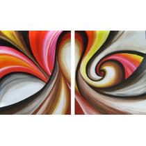 Cuadro Abstracto Moderno, Diptico, Triptico, Texturado