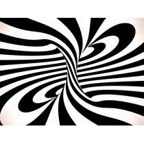 Remolino Negro Con Blanco Bastidor En 80x60 Cm Envio S/c