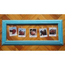 Cuadro Vintage 5 Fotos Polaroid San Valentin Marco Decape