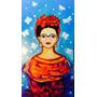 Cuadros Grandes Pinturas Frida Kahlo, Gatos Naif. En Oferta!