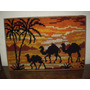 Cuadro Tapiz Con Bellos Colores Y Decorativo Camellos