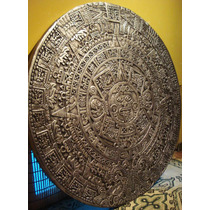 Piedra Del Sol Calendario Azteca Mexica En Relieve